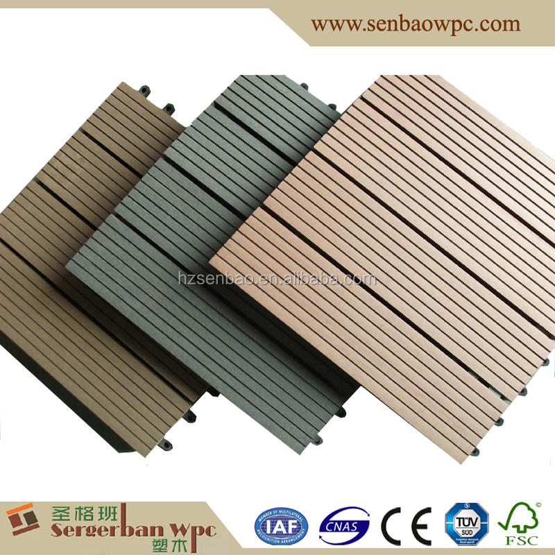 Wholesale outdoor wood deck tiles online buy best for Non slip composite decking