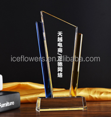 Blank Shape Crystal Trophy/Award/Plaque for Engraving