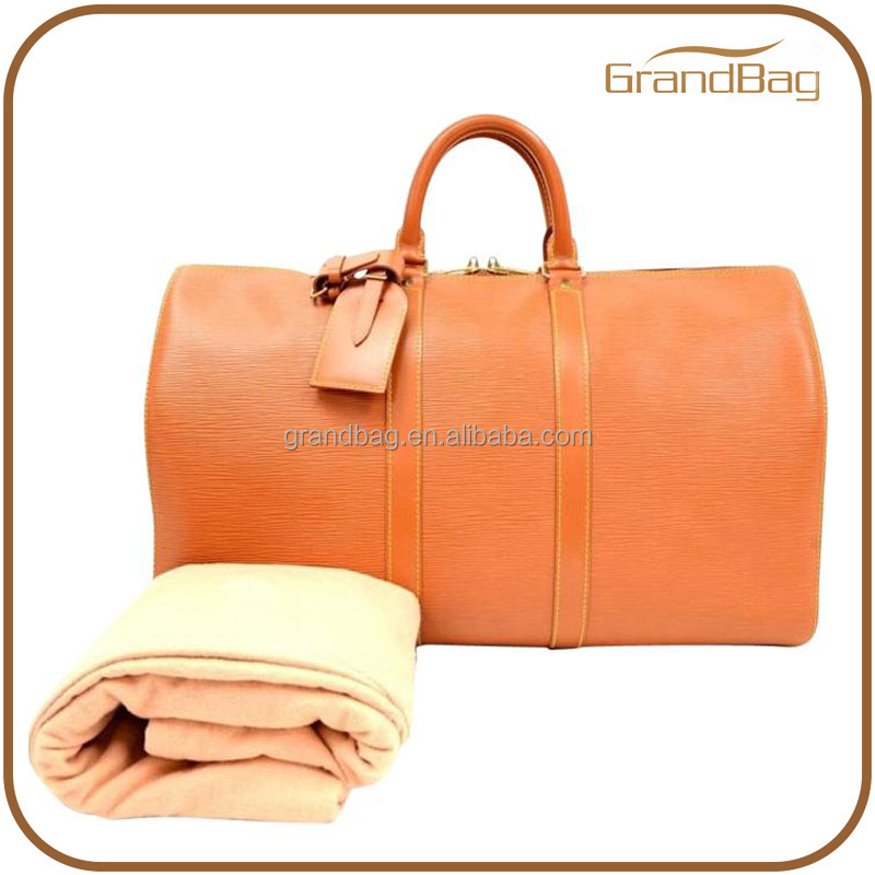 high quality fashion weekend duffle bag genuine leather luggage bag