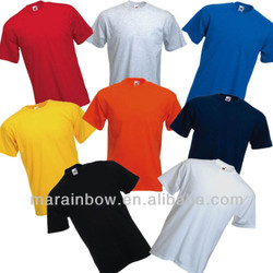 VARIOUS COLORS PLAIN FRUIT OF THE LOOM COTTON T-SHIRT S M L XL XXL