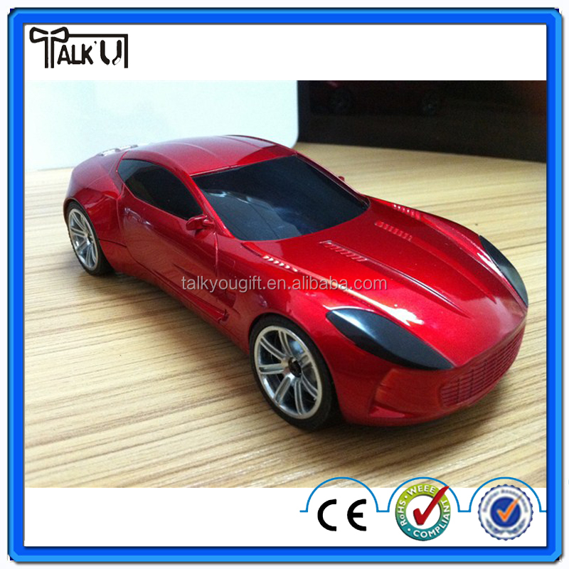 Super bass rechargeable car shape speaker with TF/FM radio, portable digital wireless car speaker