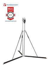10m aerial camera tower telecomunication antenna manual pneumatic auto locking telescopic mast with tripod