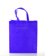 Cheap easy design eco-friendly purple nonwoven shopping bag