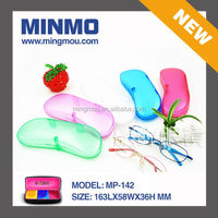 hot new products for 2015 reading glasses case, beautiful plastic glasses case, matte surface plastic eyeglasses case