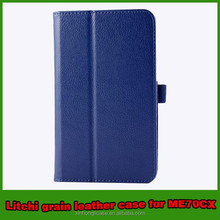 Wholesale litchi leather tablets case for ASUS MEMO PAD 7