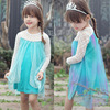 new summer baby girls lace dress kids blue dress child clothes girls long sleeve lace tutu dress