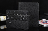 New arrival fashion bluetooth keyboard PU leather black case for Ipad 3
