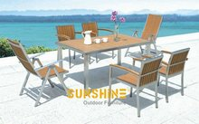 all weather WPC wood furniture/synthetic wood chairs/wpc chairs /wpc tables/ plastic wood furniture