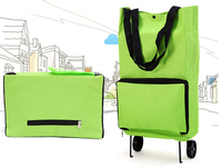 Portable Foldable Rolling Wheeled Cart Trolley Shopping Bag