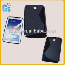 For Samsung Galaxy Note 8.0 GT-N5110 BLACK Gel TPU S-Line Case Cover Skin