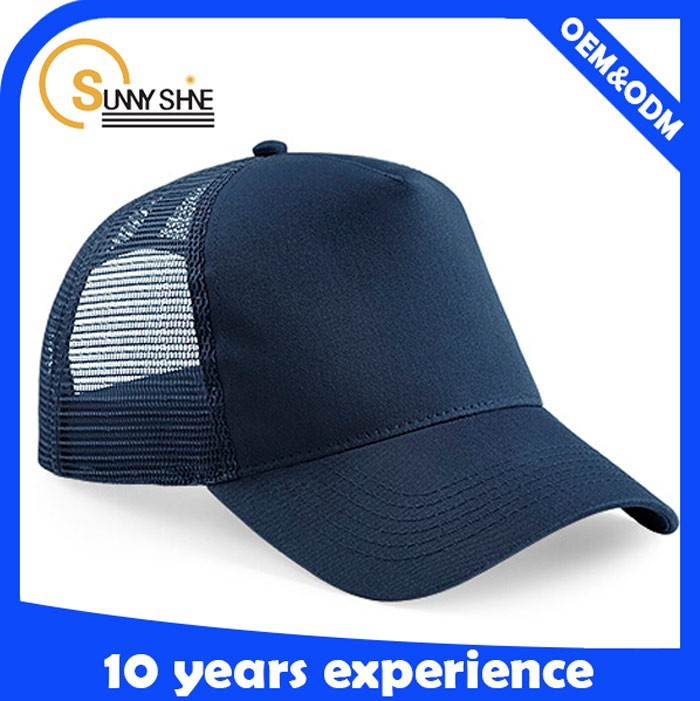 wholesale fashion summer fitted plain mesh baseball caps and hats in china