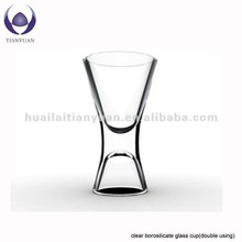 Borosilicate coe 3.3 hand blown pyrex double/singal wall colored clear crystal wine glass cup/goblet in China factory
