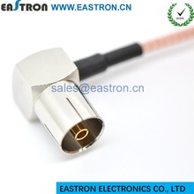 PAL connector, IEC female for cable, R/A IEC female PAL cable connector R/A IEC femal