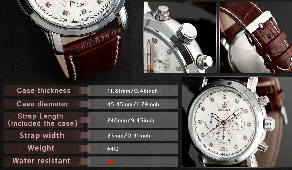 Wholesale 2014 New Fashion Quartz Men Vogue Watch Leather Watch
