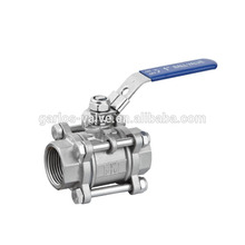 Stainless steel DN65 BSP metal seal ball valve