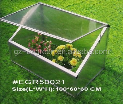 One window cold Frame Mini Green House,Green house with PC Panels and Aluminum Frames