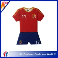 hot selling Football jerseys design tangerines scents paper car air freshener