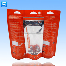OEM reusable gravure printing pouch clear plastic stand up manufacturer food bag