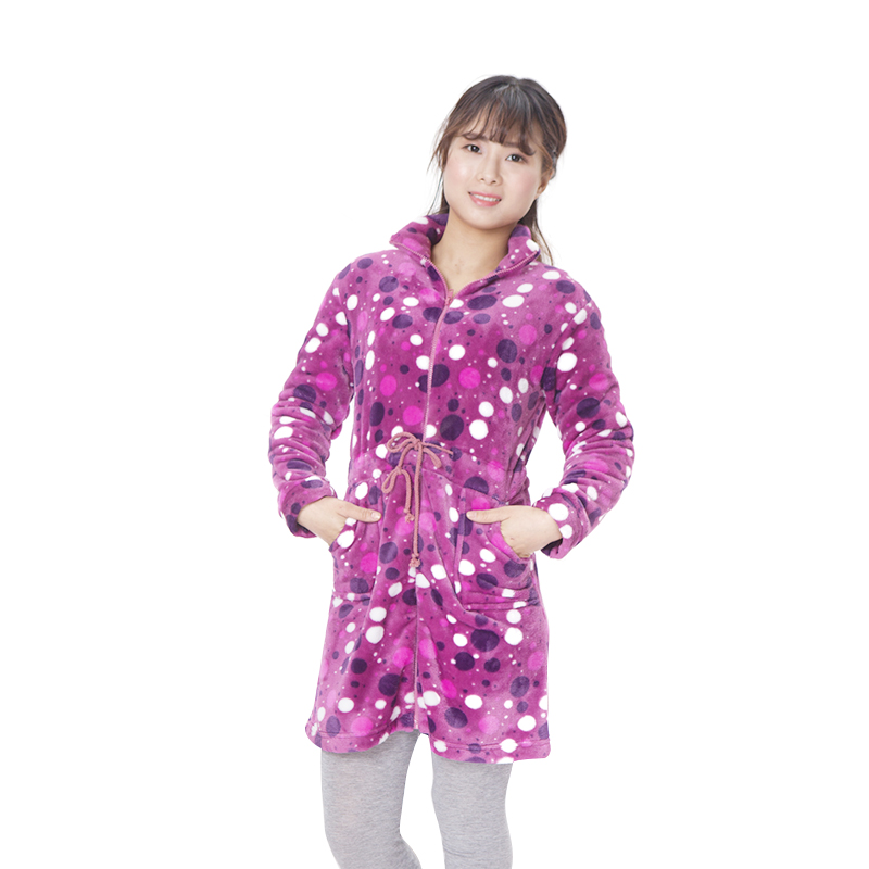 flannel zipper item nightgown