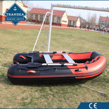 hypalon material 4.8m aluminum hull inflatable boat fishing with CE certificate