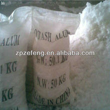 Cosmetic Grade high purity Potassium alum/potash alum powder/crystal