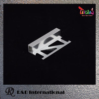 Aluminum Tile Trim 11mm Decoration Materials Profile inside corner
