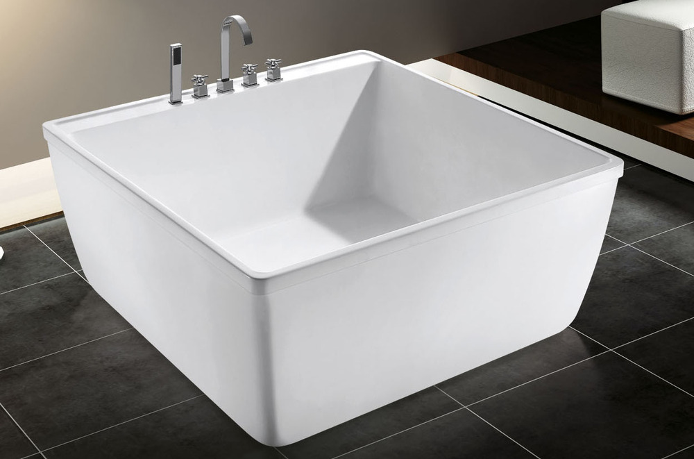 Korea small size square bath tub portable acrylic for Bathtub shapes and sizes