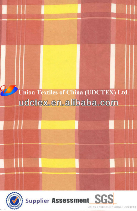 100% Cotton Check Printed Poplin Fabric