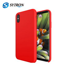 Eu Standard Pc+Liquid Silicone Smooth Touch Feeling For Iphone x Case Hard Plastic Shockproof Protect Hybrid Hard
