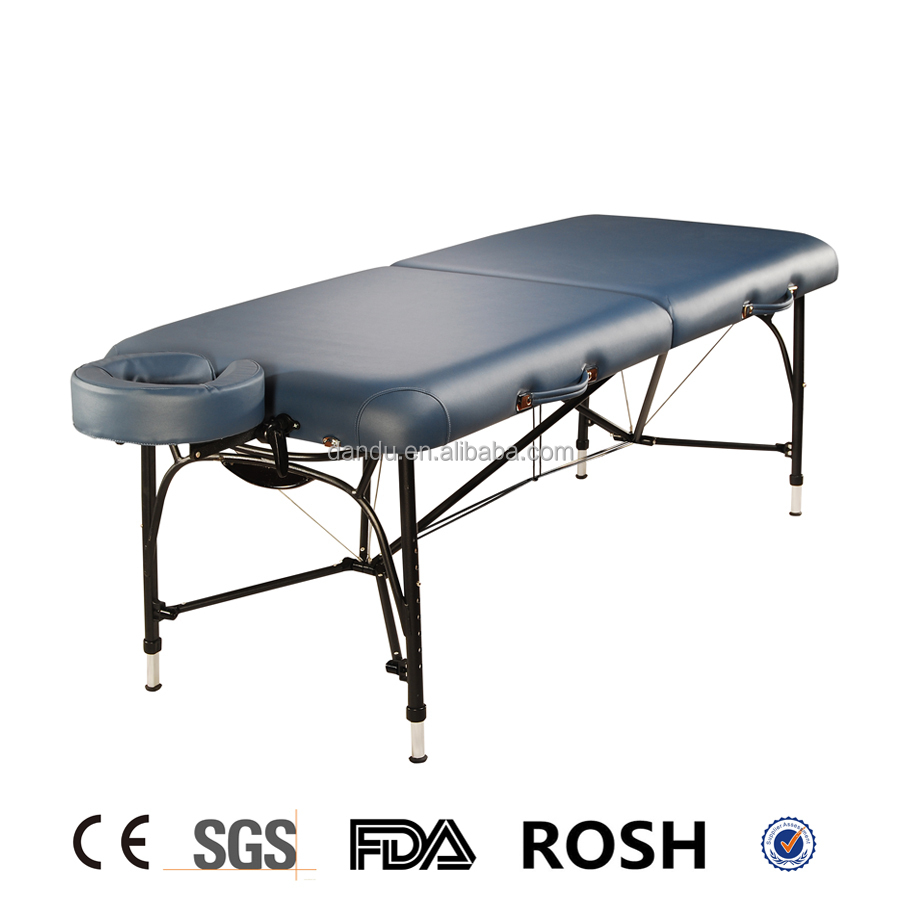 Patent Aluminum portable foldable folding light weight massage table/bed/couch