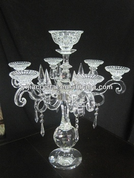 Wedding Crystal Candelabra for Table Centerpieces, Fashion Crystal Glass Candleholder Wholesale