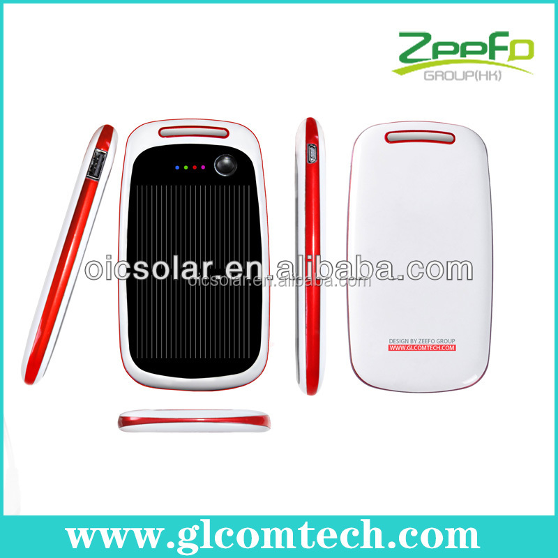 high capacity 2200mah solar multiple mobile phone charger with micro usb port