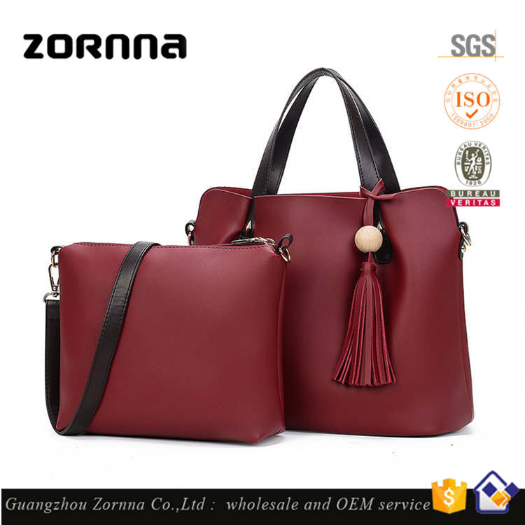 Hot selling China Designer Inspired Set Two In One Luxury Wholesale Handbags Shoulder Bag Big Size For Ladies