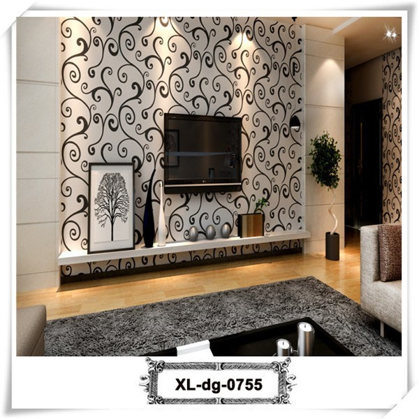 Fancy cotton wholesale heat insulation leaf pattern wallpaper for home decor