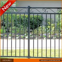 Black decorative wrought iron fence panels cheap price