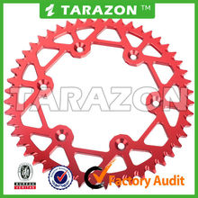 Tarazon cnc machined aluminum motorcycle rear sprockets for ktm honda yamaha suzuki off road bikes