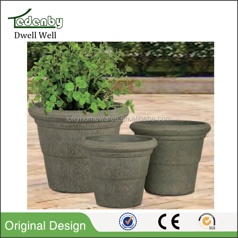 stone powder garden rock planter