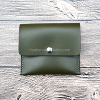 mini vintage style real leather travel card holder