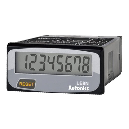 Autonics LE8N-BV LCD Indicator 8-Digit Digital <strong>Timer</strong>