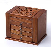 Continental retro multifunctional wooden jewelry box