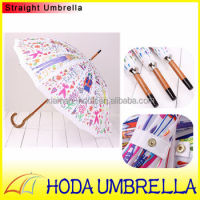 Sex Beautiful Girl Straight Umbrella Waterproof Pongee/Manual open/Beautiful Rain and Sun Umbrella 2014 HOT
