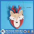 Wooden Christmas Fox Ornament