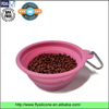 Eco friendly food grade collapsible silicone pet feeding bowl