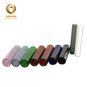 made in china wholesale glass blowing pyrex glass tube colored borosilicate glass tube 3.3