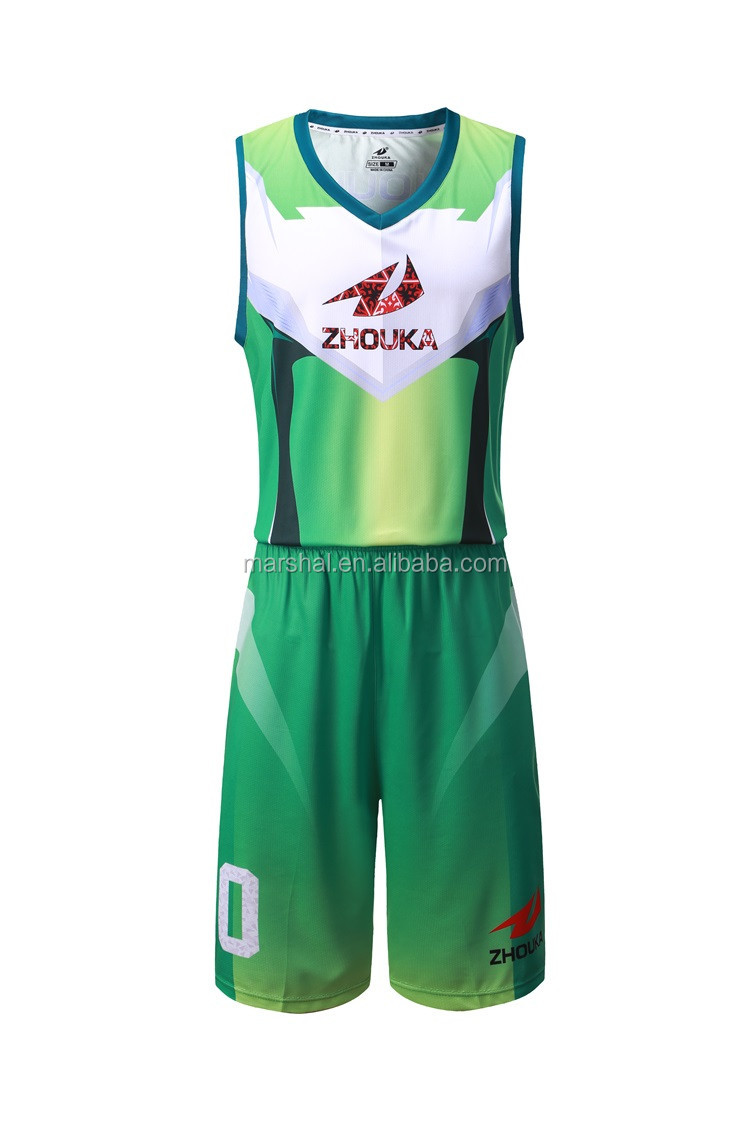 latest basketball jersey design color green