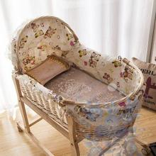 wicker bassinet wicker baby bassinet with wheels for baby sleeping in summer