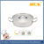 Hot sale hotel restaurant double ears short body seasoning sauce pot with compound bottom
