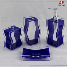 China wholesale luxury pump bottle hotel balfour purple crystal clear plastic lucite acrylic bathroom accessories