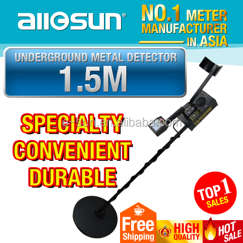 Allosun TS130 Pro Under Ground Metal Detector Deep Sensitive Search Gold Digger Hunter With Earphone