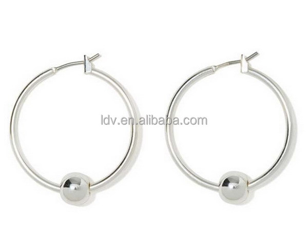 Fashion Accessory Big Circle Earring Shooting Hoops Earrings Handmade Earrings
